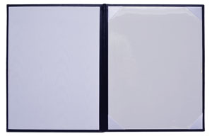 white fabric moire and paper diploma cover linings