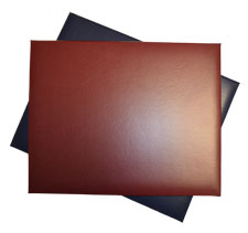 Burgundy and navy turned edge 11 by 14 diploma covers