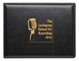 seal and stitched black vinyl diploma cover